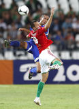 Hungria contra o jogo de futebol amigável de Israel Imagem de Stock Royalty Free