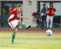 Hungria contra o jogo de futebol de Islândia Imagem de Stock Royalty Free