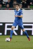 Hungria contra Países Baixos De Grécia do UEFA do Euro do qualificador fósforo 2016 de futebol Fotografia de Stock Royalty Free
