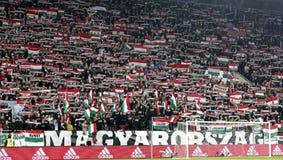 Hungria contra Países Baixos De Noruega do UEFA do Euro do qualificador do desempate fósforo 2016 de futebol Foto de Stock