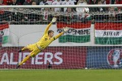 Hungria contra Países Baixos De Noruega do UEFA do Euro do qualificador do desempate fósforo 2016 de futebol Fotografia de Stock