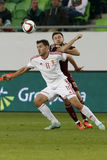 Hungria contra Países Baixos Fósforo de futebol amigável de Rússia Imagem de Stock