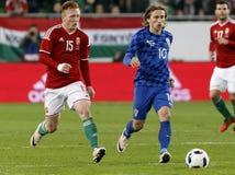 Hungria contra Países Baixos Fósforo de futebol amigável internacional da Croácia Foto de Stock Royalty Free