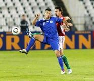 Hungria contra San Marino 8-0 Imagens de Stock