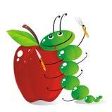 hungrig caterpillar Arkivfoto