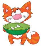 hungrig katt stock illustrationer