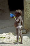 hungrig liten mali för flicka senossa Royaltyfri Fotografi