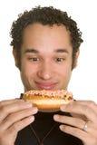 hungrig man royaltyfri bild