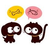 Hungrige Katze und Hund vektor abbildung