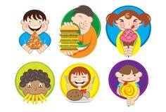Hungrige Kinder vektor abbildung
