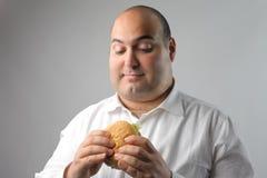Hungriger Mann Stockfoto
