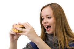 Hungriges Mädchen Lizenzfreie Stockfotos