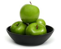 Hungry. Bowl of apples Royalty Free Stock Images
