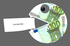Hungry and angry euro Stock Image