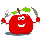 Hungry apple Stock Photo