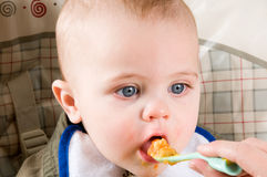 Hungry Baby Stock Photo