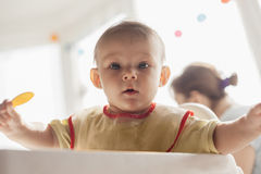 Hungry Baby Boy Royalty Free Stock Photo