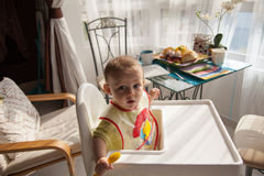 Hungry Baby Boy Stock Photography