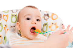 Hungry baby Stock Image