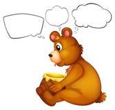 A hungry bear thinking Stock Photos