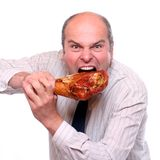 Hungry businessman. Royalty Free Stock Photography