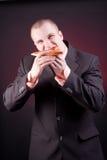 Hungry businessman Stock Photo