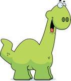Hungry Cartoon Apatosaurus Royalty Free Stock Image
