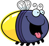 Hungry Cartoon Firefly. A cartoon illustration of a firefly looking hungry Royalty Free Stock Photos