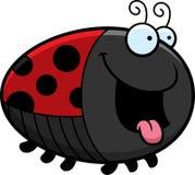 Hungry Cartoon Ladybug Stock Photography