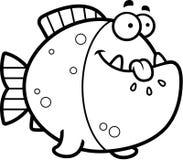 Hungry Cartoon Piranha Royalty Free Stock Photos