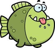 Hungry Cartoon Piranha Stock Images