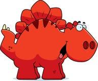 Hungry Cartoon Stegosaurus Stock Image