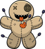 Hungry Cartoon Voodoo Doll Royalty Free Stock Photo