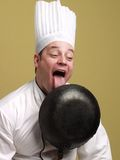 Hungry chef. Stock Photos