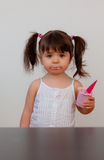 Hungry child royalty free stock images