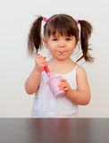 Hungry child Royalty Free Stock Photo