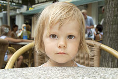 The hungry child Stock Images