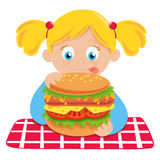 Hungry child royalty free stock photography