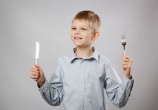 Hungry child Stock Photography