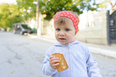 Hungry Child Royalty Free Stock Image