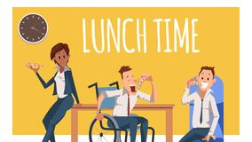 Free Hungry Coworker Have Break For Lunch With Pizza Royalty Free Stock Images - 141640819