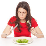 Hungry on a diet Royalty Free Stock Images