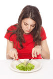 Hungry on a diet Royalty Free Stock Image