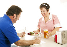 Hungry for Dinner Royalty Free Stock Photo