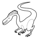 Hungry dinosaur icon outline Royalty Free Stock Photos