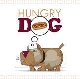 Hungry dog. Vector illustration Royalty Free Stock Image