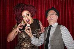 Hungry Drag Queen Royalty Free Stock Image