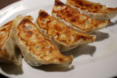 Hungry eat gyoza is easy way yammy Royalty Free Stock Photos