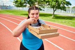 Hungry after workout Royalty Free Stock Image