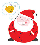 Hungry Funny Santa Stock Image